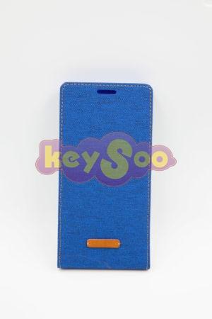 Huawei Ascend p8 флип кейс Canvas Flexi - син