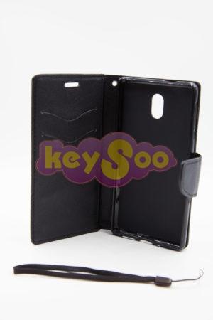 Nokia 3 луксозен кейс - черен