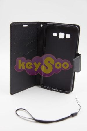 Fancy Book case black - Samsung Grand Prime