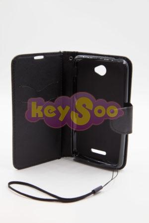 Sony Xperia E4 луксозен кейс - черен