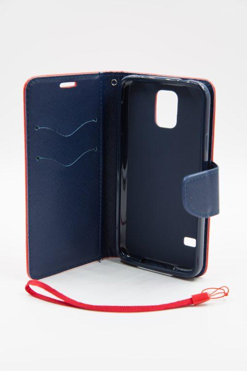 Samsung S5 луксозен кейс - червен/син