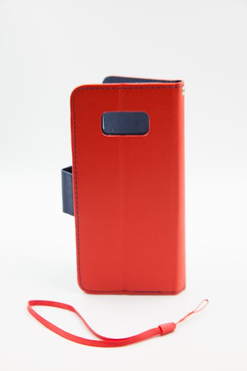Samsung S8 Plus луксозен кейс - червен/син