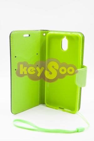 Nokia 3.1 луксозен кейс - син/зелен