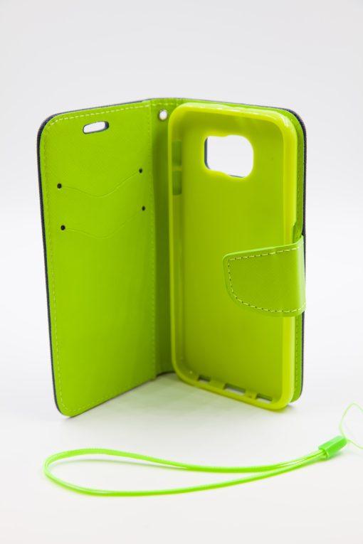 Samsung S6 луксозен кейс - зелен/син