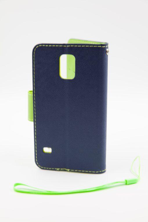 Samsung S5 луксозен кейс - зелен/син