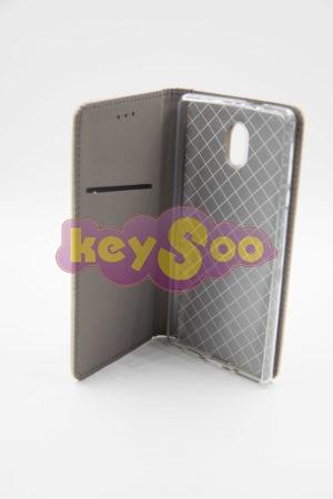 Nokia 3 Smart Case Book златен
