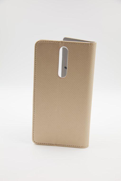 Nokia 8 Smart Case Book  - златен