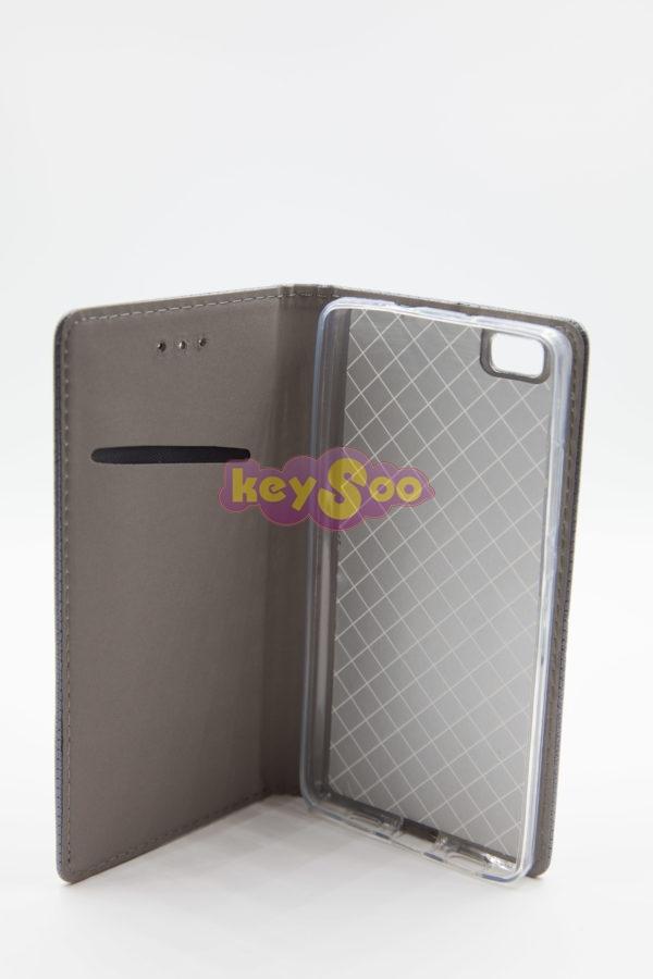 Huawei Ascend p8 lite Smart Case Book сив