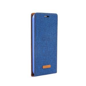 Samsung S6 Edge флип кейс Canvas Flexi - син