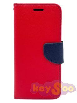 Fancy Book Case Red-Samsung Galaxy J3 2017