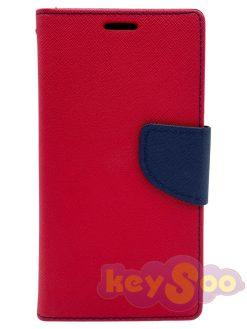 Fancy Book Case Red-Navy-Samsung Galaxy S7