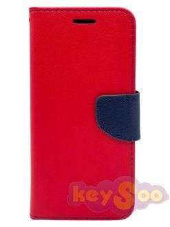 Fancy Book Case Red Navy-Samsung Galaxy S7 Edge