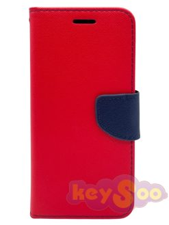 Fancy Book Case Red-Navy-Samsung Galaxy S8