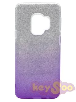 Forcell SHINING Case Transparent Violet-Samsung Galaxy S9