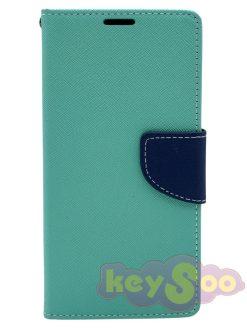 Fancy Book Case Mint-Navy-Samsung Galaxy S7