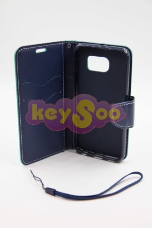 Samsung Galaxy S6 Fancy Book case mint-navy
