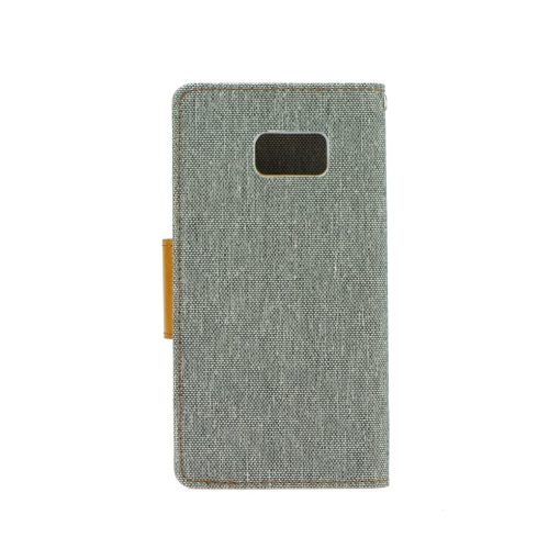 Canvas Book case gray Galaxy J7 2017