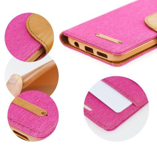 Canvas Book case pink Galaxy J6+