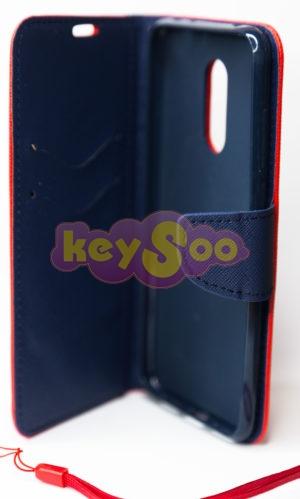 Fancy Book case red-navy Redmi 5+