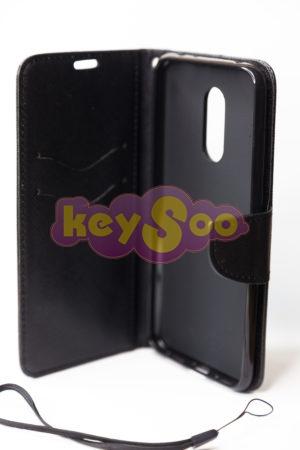Fancy Book case black Redmi 5+