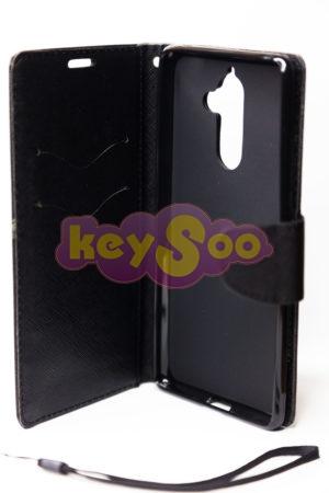 Fancy Book case black Lumia 7 Plus