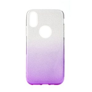 Forcell SHINING Case silver/violet Galaxy J6+