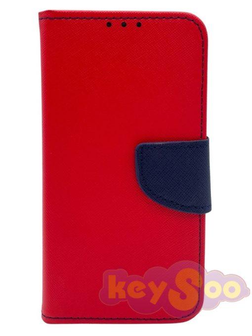 Fancy Book Case Red-Navy - Samsung Galaxy S10