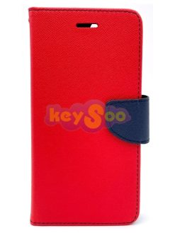 Fancy Book Case Red-Navy - iPhone 6