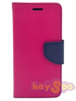 Fancy Book Case Pink-Navy - iPhone 7