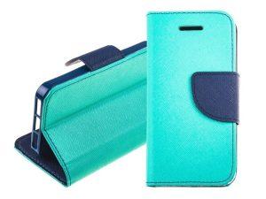 Fancy Book case mint-navy - iPhone X/XS