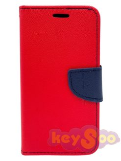 Fancy Book Case Red-Navy - iPhone X