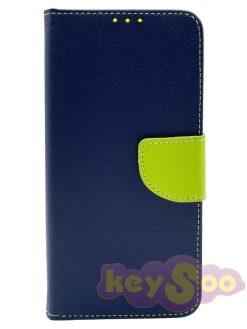 Fancy Book Case Navy-Lime - Samsung Galaxy A50