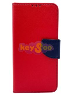 Fancy Book Case Red Navy-Huawei P20 Lite