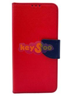 Fancy Book Case Red Navy-Huawei P30 Lite
