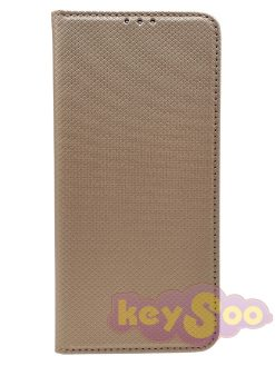 Smart Case Book Gold-Huawei Y7 2019