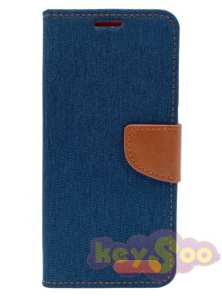 Canvas Book case navy blue- iPhone 11 Pro Max