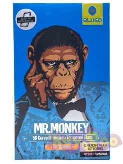 5D Mr. Monkey Glass - (Hot bending) black - iPhone 11 Pro Max