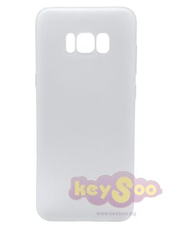 Forcell SOFT Case White-Samsung Galaxy S8 Plus