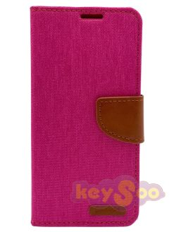 Canvas Book Case Pink-Huawei P30 Lite