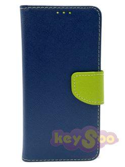 Fancy Book Case Navy Lime-Huawei P30 Lite