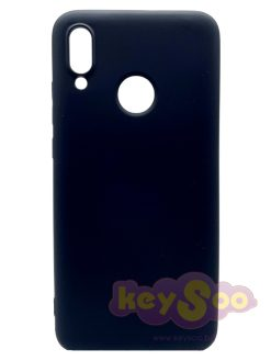 Forcell SILICONE LITE Case Black-Huawei P Smart 2019