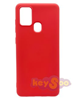 Forcell SILICONE LITE Case Pink-Samsung Galaxy A21s