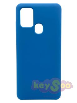 Forcell Silicone Case Blue-Samsung Galaxy A21s