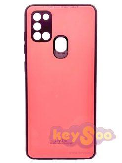 Glass Case Pink-Samsung Galaxy A21s