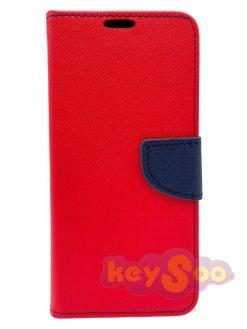 Fancy Book Case Red-Navy-Samsung Galaxy A21s