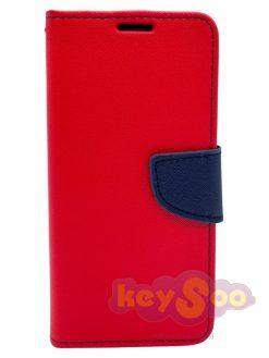 Fancy Book Case Red-Samsung Galaxy A5 2018